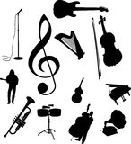 Set icons - 95C. Music Stock Photography