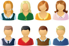 Set of icons. Set of offise people icons Stock Photos