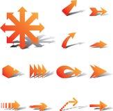 Set icons - 99A. Arrows Stock Photos