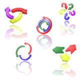 Set of icons or abstract designs. Stock Images