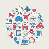 Set with icons - abstract symbols Stock Photos