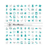 Set with icons - abstract symbols vector illustration