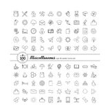 Set with icons - abstract symbols Royalty Free Stock Photography