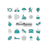 Set with icons - abstract symbols Stock Images