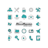 Set with icons - abstract symbols. A vector Royalty Free Stock Images