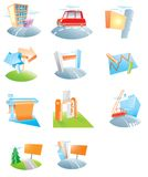 A set of icons for an advertising agency Stock Photos