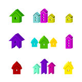 Set of icons for advertising real estate Royalty Free Stock Image