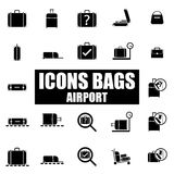 Set of icons airport Stock Photography