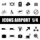 Set of icons airport Royalty Free Stock Image
