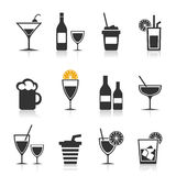 Alcohol an icon Royalty Free Stock Images
