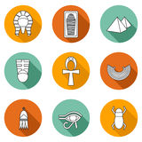 Set of icons on ancient Egypt theme Royalty Free Stock Image