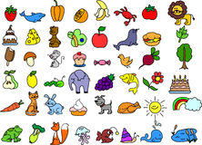 Set of icons animals,vector Royalty Free Stock Image