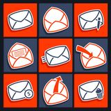 Set of icons for app envelopes and message Stock Image