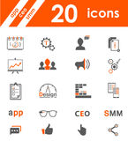 Set of icons app, seo, smm. Set of  icons and symbols app, seo, smm, programming and design - stock . Creative minimalist icons for your design Stock Images