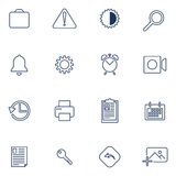 Set of 16 icons for app, sites, software Stock Images