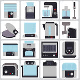 Set of icons appliances for the kitchen Royalty Free Stock Photo