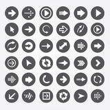 Set of  icons arrow Royalty Free Stock Images