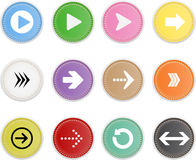 Set Of Icons Arrow Stock Image