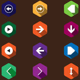 Set icons with arrows. flat design Royalty Free Stock Photos