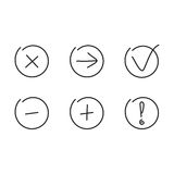 Set icons arrows plus minus Stock Photography