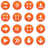 Set of  icons with arrows Royalty Free Stock Images