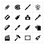 Set icons of art Stock Photo