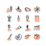 Set of icons - arts. Royalty Free Stock Photos