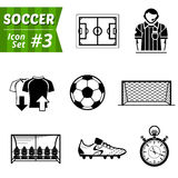 Set of icons for association football Royalty Free Stock Photography