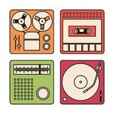 Set of icons for audio equipment Royalty Free Stock Images