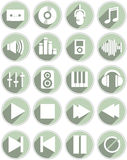 A set of icons for audioa. Royalty Free Stock Images