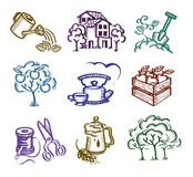 Set of icons. Authors illustration in vector Stock Image