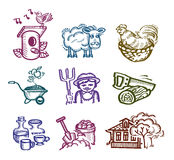 Set of icons. Authors illustration in vector Stock Images