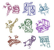 Set of icons. Authors illustration in vector Stock Illustration
