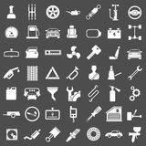 Set icons of auto, car parts, repair and service. Isolated on grey royalty free illustration