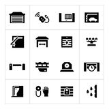 Set icons of automatic gates Royalty Free Stock Image