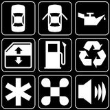 Set of icons (automobile, car) Stock Photos