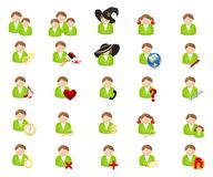 Set of icons-avatars Royalty Free Stock Images
