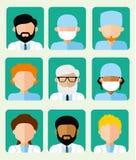 Set of icons avatars doctors Royalty Free Stock Photo