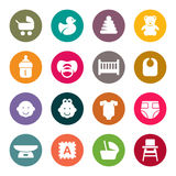 Set of icons on baby care theme for your design Stock Photos