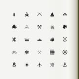 Set icons. Badge. Royalty Free Stock Photography
