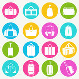 Set icons of  bags  and  handbags - Illustration Stock Image