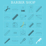 Set of 25  icons `Barber`. Royalty Free Stock Photo