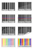 Set icons barcode vector illustration Stock Photos