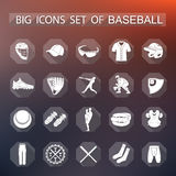 Set of  icons of baseball Stock Images
