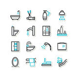 Set of icons - a bathroom Royalty Free Stock Photos