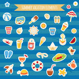 Set of icons of beach theme. Stock Images