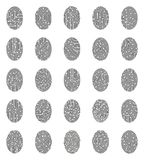 Fingerprints Icons Set Royalty Free Stock Photos