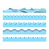 Blue water waves vector illustration