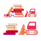 Set of icons of books Royalty Free Stock Images