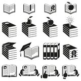 Set of icons of books. Stock Photography